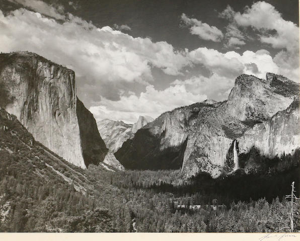 Ansel Adams (American, 1902-1984); Valley View, Yosemite National Park;