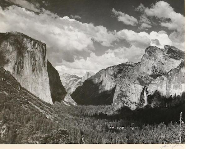 Ansel Adams (American, 1902-1984); Valley View, Yosemite National Park;