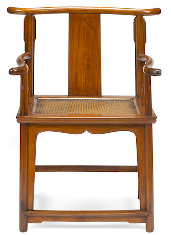 A huanghuali yoke-back armchair Qing dynasty elements