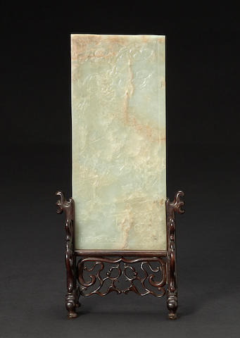 A nephrite plaque Qing dynasty