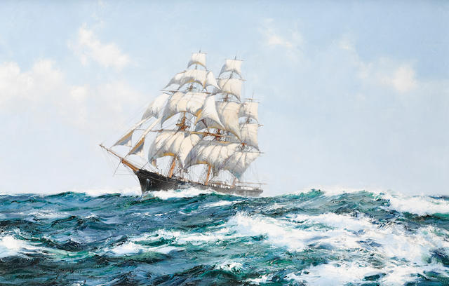 Montague Dawson (British, 1890-1973) The Racing Sky 24 x 36 in. (60.9 x 91.4 cm.)
