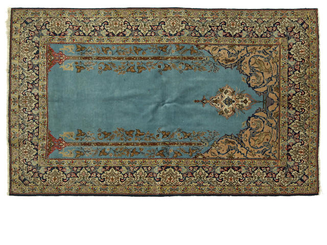 An Indo Kashan rug approximately 7ft. x 4ft. 5 1/2in.