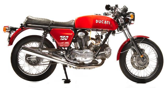 1974 Ducati 750 GT Frame no. DM750S755563