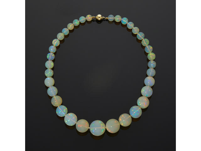 Stunning Crystal Opal Bead Necklace