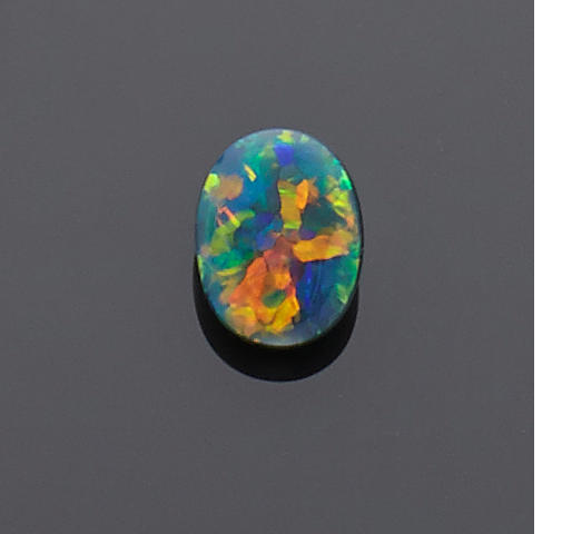 Very Fine Black Opal with Red Fire