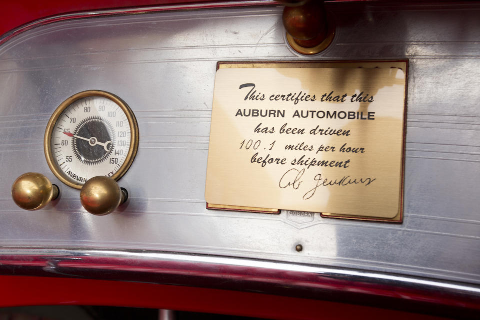 <i>In its present ownership since 1949</i><br /><b>1935 Auburn 851 Supercharged Boattail Speedster  </b><br />Chassis no. 32069E <br />Engine no. GH 4330