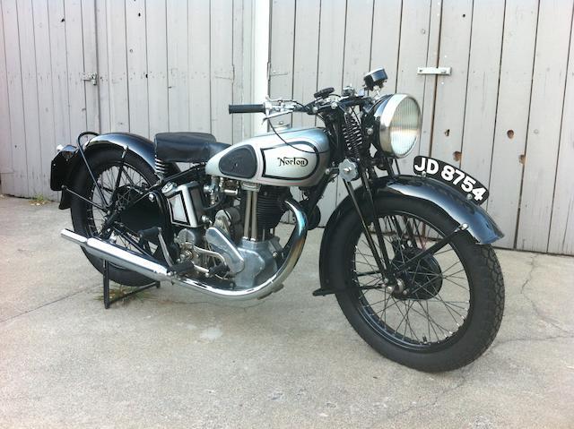1937  Norton  Model 50 350cc Frame no. 84075 Engine no. 8563