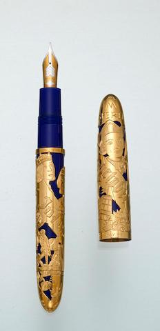 OMAS: Almirante Solid 18K Gold Limited Edition 30 Fountain Pen