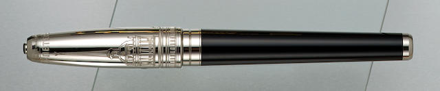 DUPONT: St. Petersburg Platinum & Black Lacquer Limited Edition 300 Fountain Pen