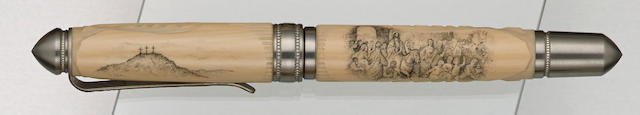 GRAYSON TIGHE: Last Supper Scrimshaw Limited Edition 1 Fountain Pen
