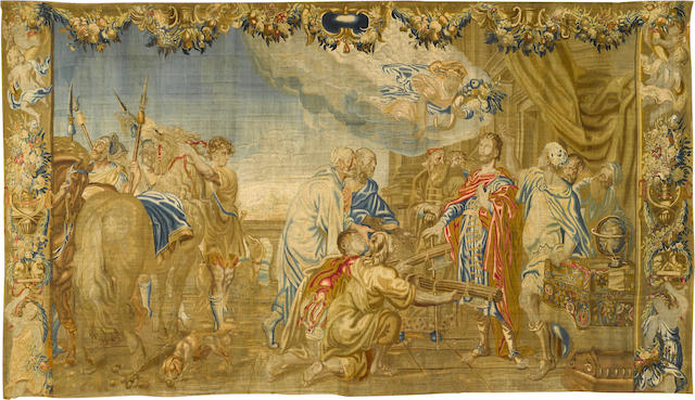 An important Flemish historical tapestry Jan Frans Cornelissen or Anna Maria Wauters  the design attributed to Abraham van Diepenbeeck (Flemish, 1596-1675)  Antwerp, second half 17th century
