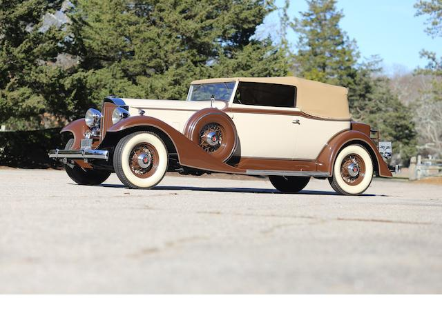 <b>1933 Packard Eight Model 1002 Convertible Victoria  </b><br />Chassis no. 627-39 <br />Engine no. 371218