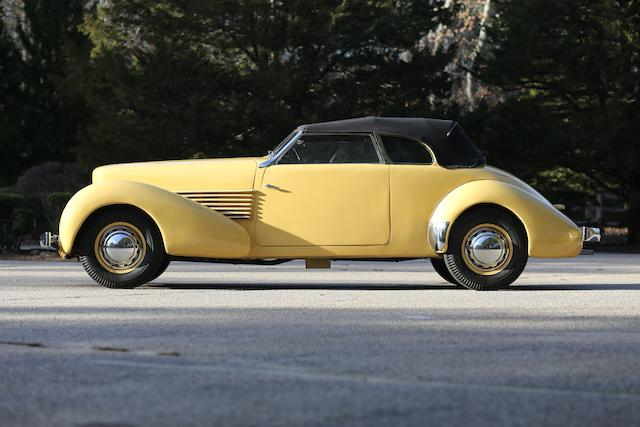 <b>1937 Cord 812 Phaeton  </b><br />Chassis no. 1821H <br />Engine no. FB2457