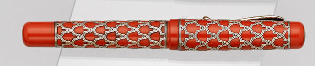 VISCONTI: Alhambra Sterling Silver Limited Edition 888 Fountain Pen