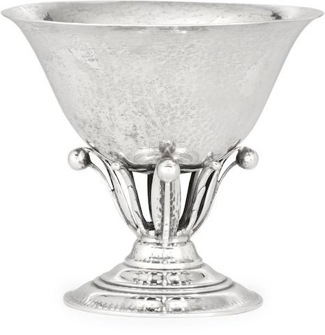 A Danish sterling silver  compote by Georg Jensen Silversmithy, Copenhagen, 1925-32