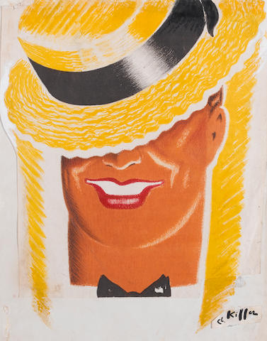 A Charles Kiffer design for a Maurice Chevalier poster