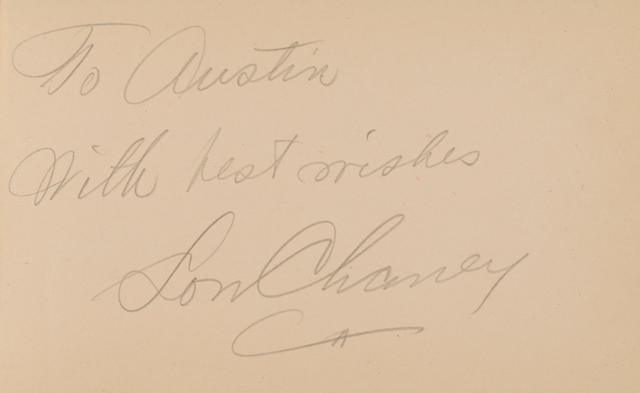 A silent era child actor's autograph book