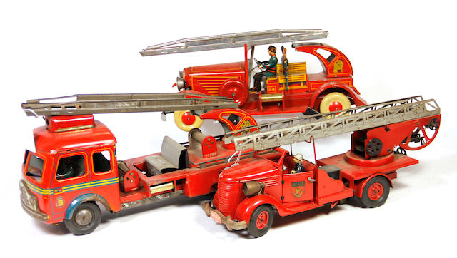 Tin European Fire Trucks