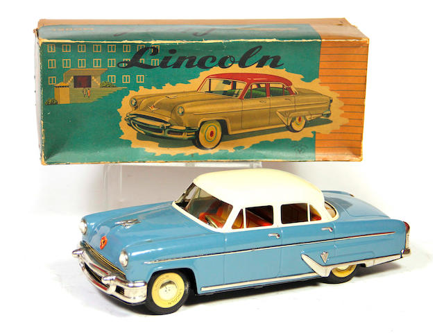 1955 Yonezawa Lincoln 4-door sedan with box