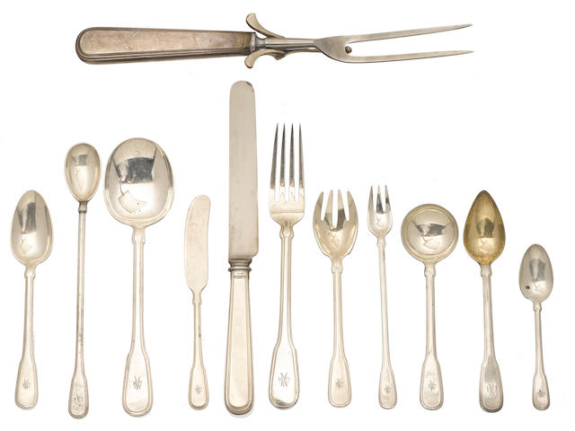 A Tiffany & Co. sterling silver flatware service