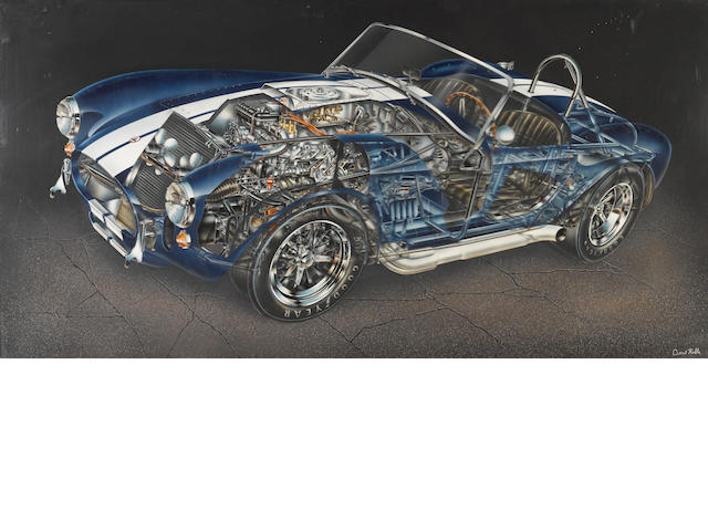David Kimble: original artwork cutaway of a 1965 Cobra 427 S/C, CSX 3022,