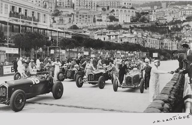 Jacques-Henri Lartigue (1894-1986): Grand Prix Automobiles de Monaco,