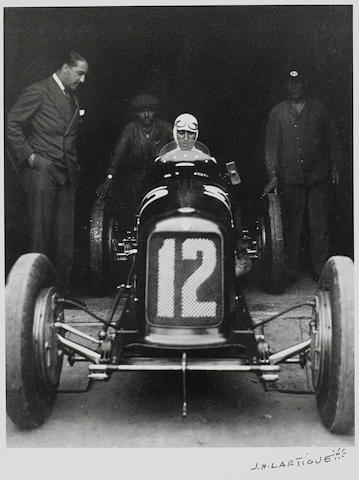 "Jacques-Henri Lartigue (1894-1986): ""Nuvolari"" 1930 Grand Prix Car,"