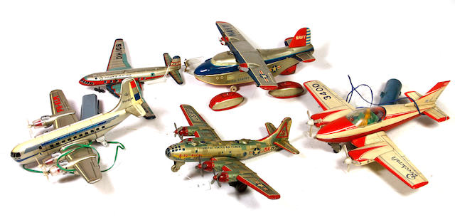 Tin Airplanes with Propellers