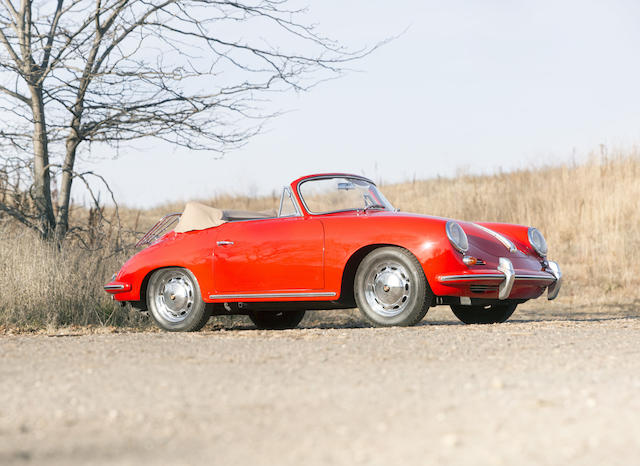 <b>1963 Porsche 356C 1600 Cabriolet  </b><br />Chassis no. 159295 <br />Engine no. 730366