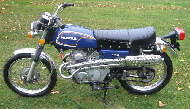 1972 Honda CL175 Frame no. CL1757013632 Engine no. Cl175E7013670
