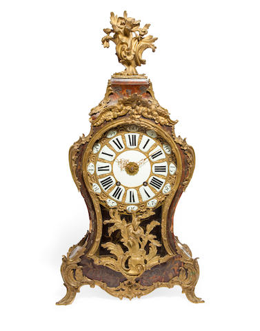 An unusual Continental Boulle marquetry bracket clock with pull quarter repeat and alarm Signed Jean Pull Horlogeur  du Cabinet de S. A. E. E. de Treves / Coblence au Dahl Ehrnbreitsteinsecond quarter 18th century