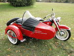 1957 Harley-Davidson FLH with sidecar Engine no. 59FLH5640