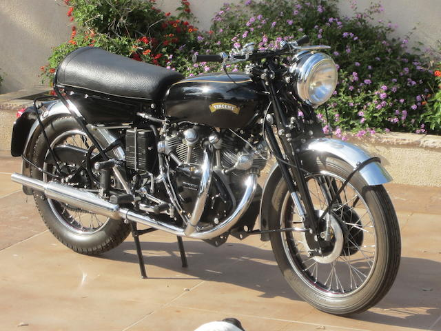 1955 Vincent D Series Black Shadow Frame no. RD12750B Engine no. F10AB/2B/10850