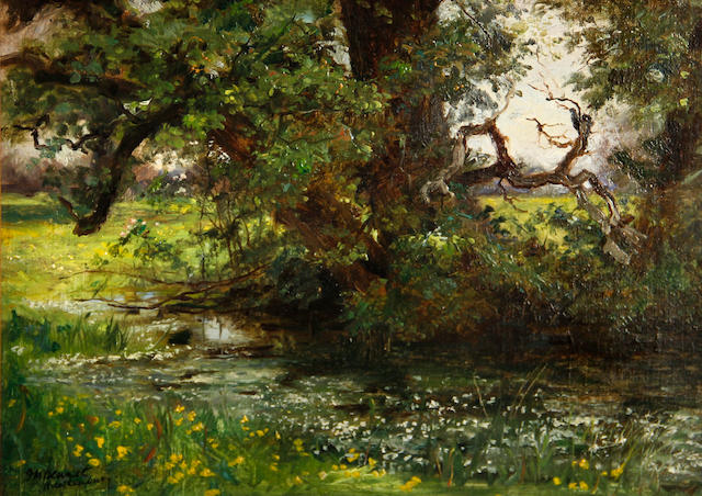 Frank Moss Bennett (British, 1874-1952) Hawkenbury, England 10 x 14in
