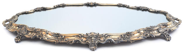 A French  first standard silver-gilt  Rococo style oval footed two-handled surtout de table by Maison Odiot, Paris; retailed by Tiffany & Co.,  early 20th century