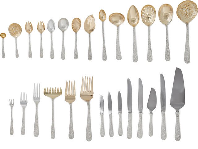 An American sterling silver extensive flatware service for eighteen by S. Kirk & Son, Baltimore, MD, third-quarter 20th century