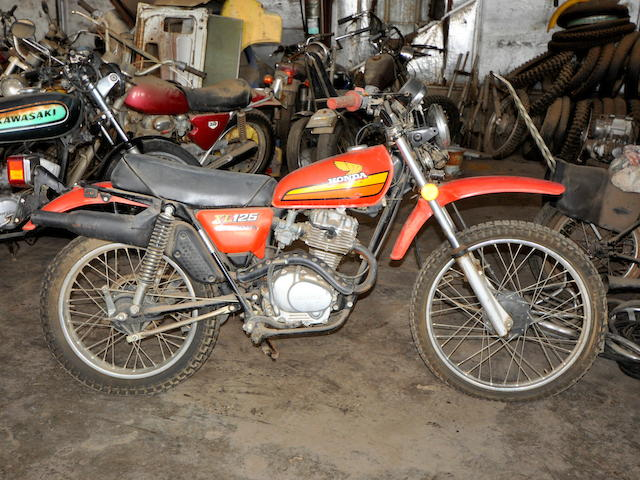1975 Honda XL125 Frame no. XL125-2109421 Engine no. Xl125E-2109453