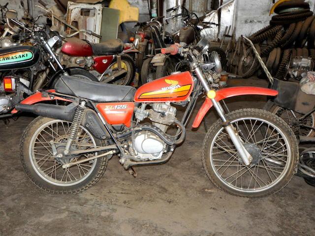 1975 Honda XL125 Frame no. XL125-2109421 Engine no. Xl125E-2109453
