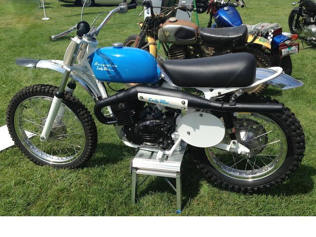 """One-off custom dirtbike built for U.S. motocross originator Edison Dye,1973 Husqvarna  250cc """"Lady Blue"""" Frame no. 03709 Engine no. 2032-1093"""