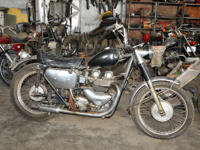 1961 Matchless 650 G12 Bobber Frame no. A74910 Engine no. 61/G12x3504