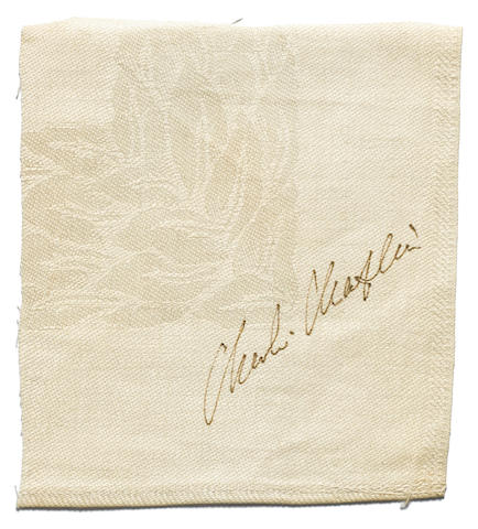 A Charlie Chaplin clipped signature