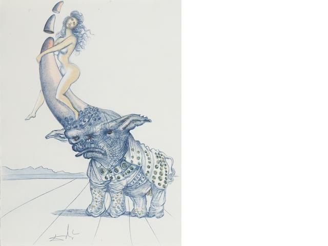 [DALI, SALVADOR. 1904-1989.] CASANOVA DE SEINGALT, GIACOMO GIROLAMO. 1725-1798. Dali illustre Casanova. Paris: Au Cercle du Livre Precieux, [1967].