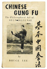 A Bruce Lee inscribed and signed first edition of Chinese Gung Fu