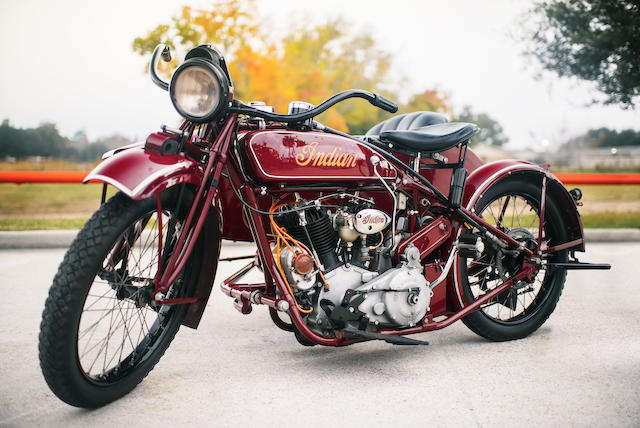 The ex-Steve McQueen, restored by Von Dutch in 1969,1923 Indian Big Chief with Princess Sidecar Frame no. 91V997