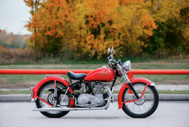 1949 Indian 440cc Vertical-Twin Scout Frame no. 2494626 Engine no. BD14626