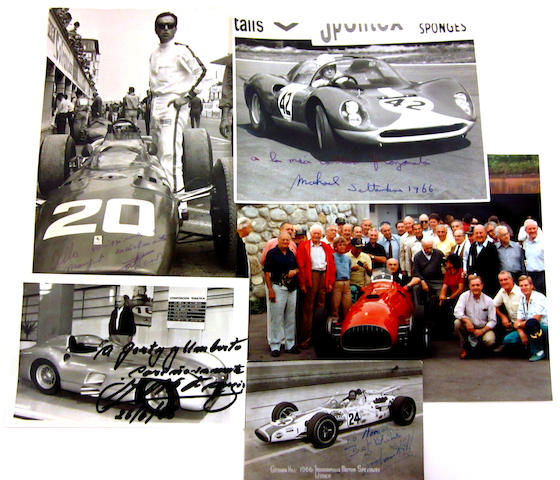 An important grouping of signed racing photographs,
