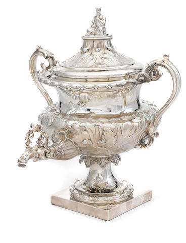 A William IV  sterling silver  hot water urn maker's mark CE, London,  1833