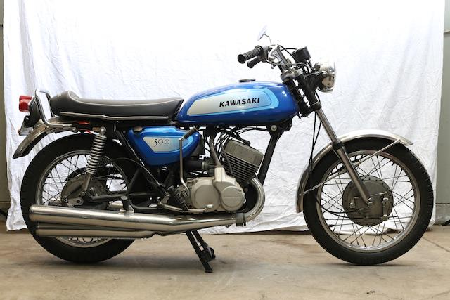 1972 Kawasaki 500cc H1 Two-Stroke Triple Frame no. KAF45742