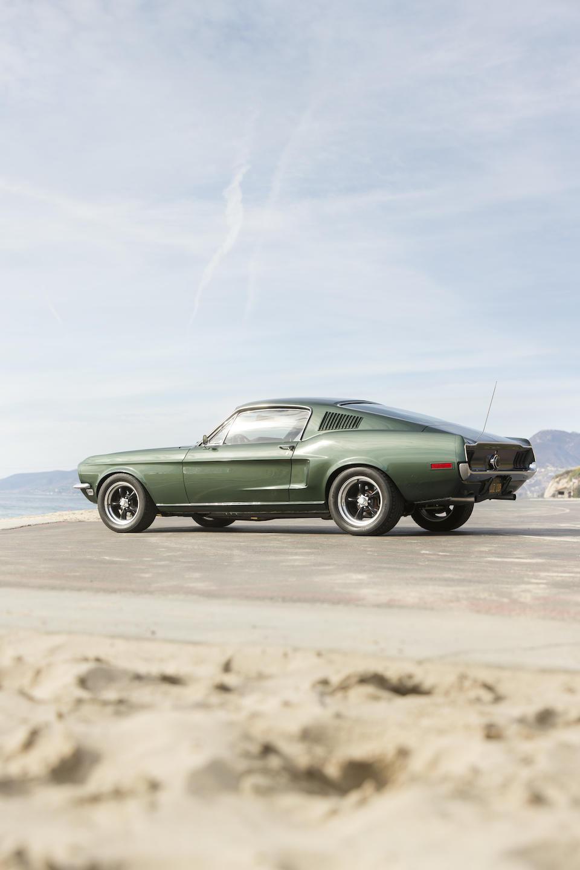 "<i>The ""Bullitt"" Mustang built by Gateway Classics for Chad McQueen</i><br /><b>1968/2011 Ford Mustang Fastback  </b><br />VIN. DRMVB0000157695M0"
