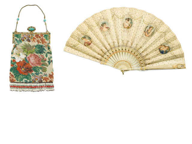 A Norma Shearer purse and fan
